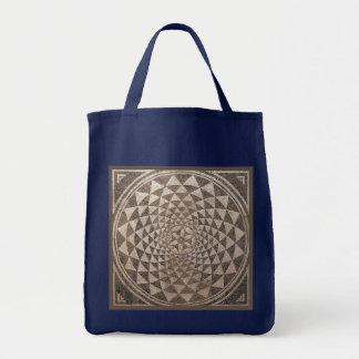 Geometrisches Mosaik Saragossas Salduba Tragetasche