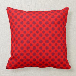 Geometrisches Muster der roten Blume Kissen