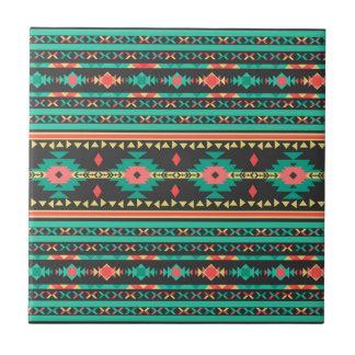 Geometrisches Muster des coolen Stammes- Keramikfliese