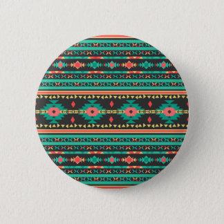 Geometrisches Muster des coolen Stammes- Runder Button 5,7 Cm