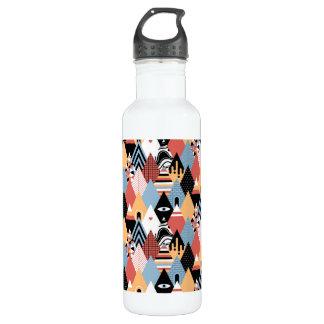 Geometrisches Muster des modernen mystischen Trinkflasche