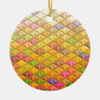 Geometrisches Muster des orange rosa Kubismus Keramik Ornament