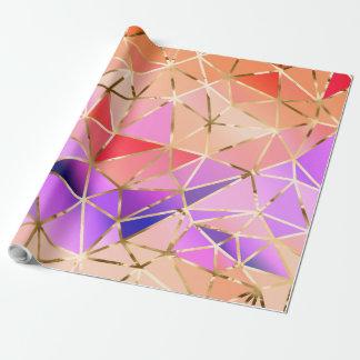 Geometrisches Muster des Regenbogens Geschenkpapier