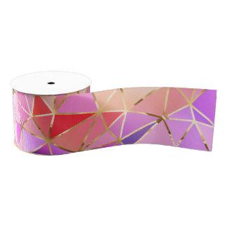 Geometrisches Muster des Regenbogens Ripsband