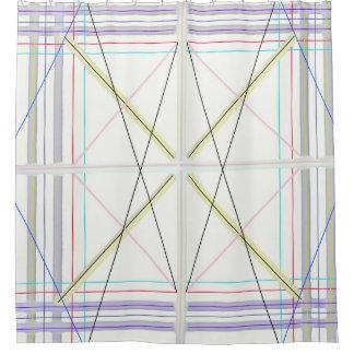 Geometrisches Muster Duschvorhang