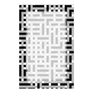 Geometrisches Muster im Grau, Schwarzweiss. Personalisiertes Büropapier