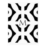 Geometrisches Muster Mini-Visitenkarten