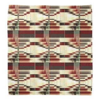 Geometrisches Muster rotes Gelbgrün-Browns Halstuch