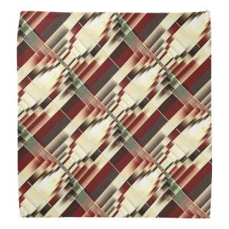 Geometrisches Muster rotes Gelbgrün-Browns Kopftuch