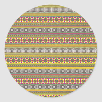 Geometrisches Muster Runder Aufkleber