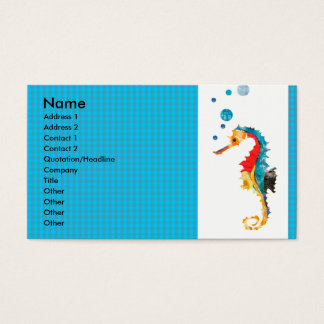 Geometrisches Muster-TierAquarell-Seepferd Visitenkarte