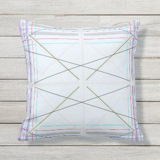Geometrisches Musterblau Kissen Für Draußen