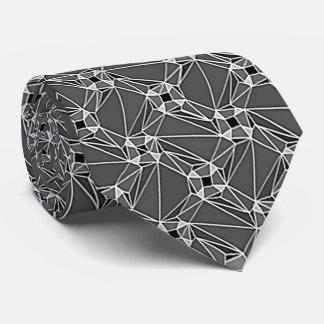 geometrisches Musterung grau geometrisches Bedruckte Krawatte