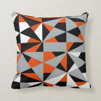 Geometrisches mutiges Retro Funky orange Kissen
