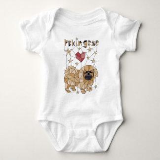Geometrisches Pekingese Baby Strampler
