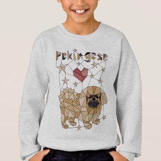 Geometrisches Pekingese Sweatshirt