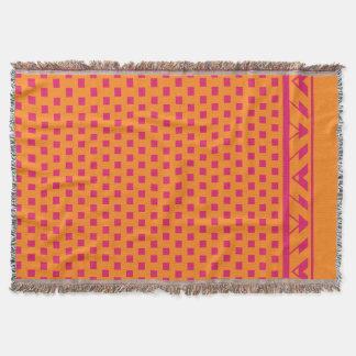 Geometrisches Quadrat punktiert | Pinkorange Decke