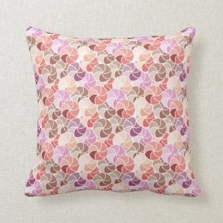 Geometrisches rosa Regenschirm-Mosaik-Wurfs-Kissen Kissen