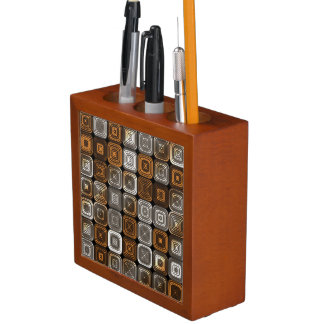 Geometrisches Schokoladenmuster Stifthalter