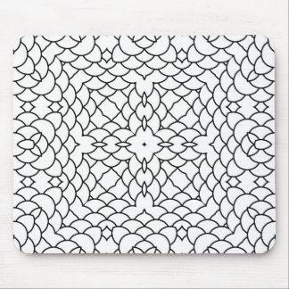 Geometrisches Schwarzweiss-Muster Mauspads