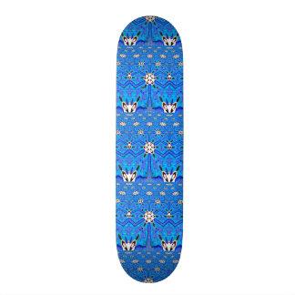 geometrisches Skateboard des blauen Gitters