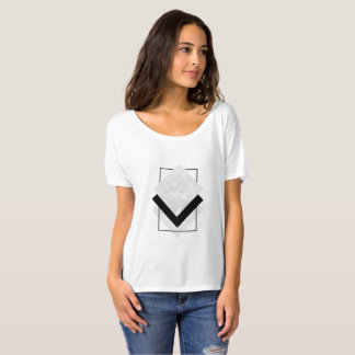 Geometrisches Slouchy Shirt