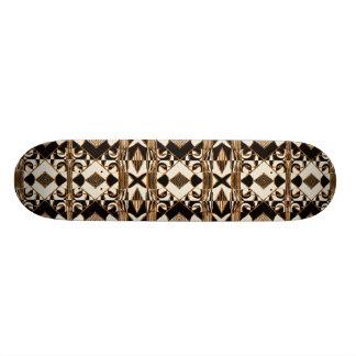 Geometrisches Stammes- Art-Muster in Brown-Farben Skateboard Deck