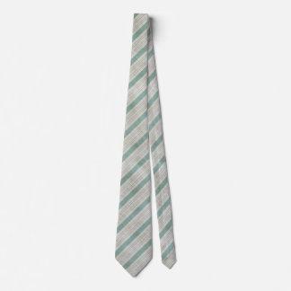Geometrisches vertikales Aqua u. weiße Individuelle Krawatte