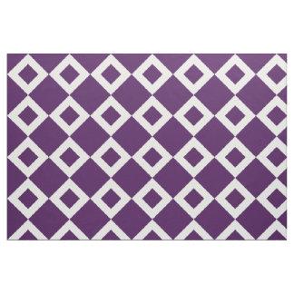 Geometrisches violettes und weißes stoff