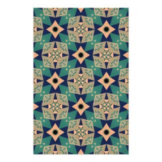 Geometrisches Wandentwurfsmuster Briefpapier