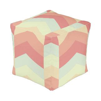 Geometrisches Zickzack Muster-coole Pastellfarben Hocker