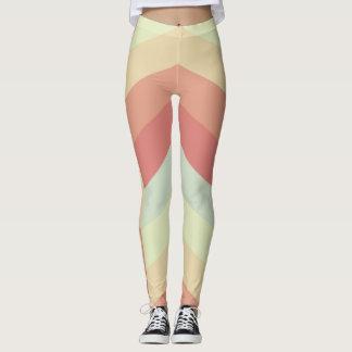 Geometrisches Zickzack Muster-coole Pastellfarben Leggings