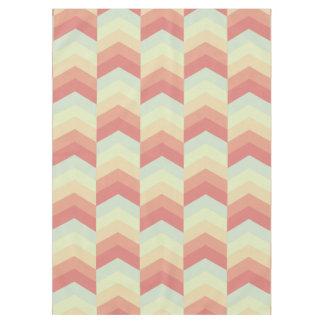 Geometrisches Zickzack Muster-coole Pastellfarben Tischdecke