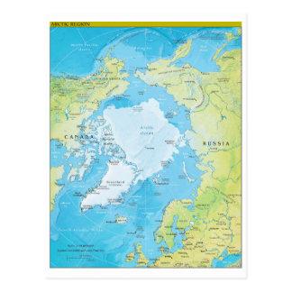 Geopolitische regionale Karte der Arktis