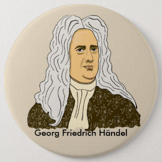 Georg Friedrich Händel Runder Button 15,3 Cm