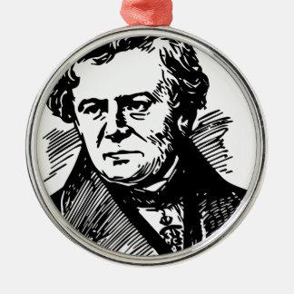 Georg Ohm Rundes Silberfarbenes Ornament