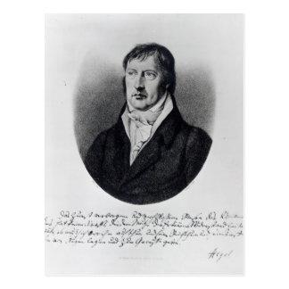 Georg Wilhelm Friedrich Hegel Postkarte