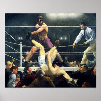 George Bellows Dempsey und Firpo Kunst des Poster