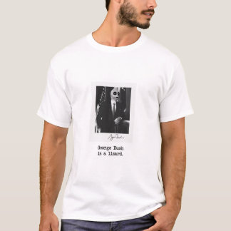 George Bush ist eine Eidechse T-Shirt