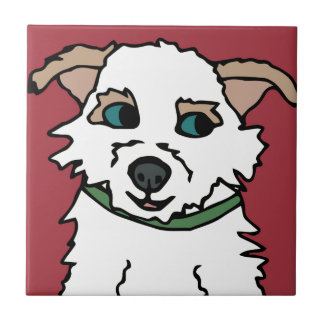 George der Terrier-Rettungs-HundeCartoon Fliese