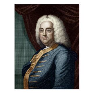 George Frederic Handel, graviert durch Thomson Postkarte