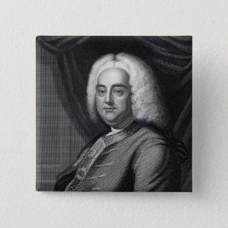 George Frederic Handel, graviert durch Thomson Quadratischer Button 5,1 Cm