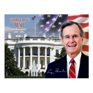 George H.W. Bush - 41. Präsident der US Postkarte