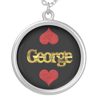 George-Halskette Versilberte Kette