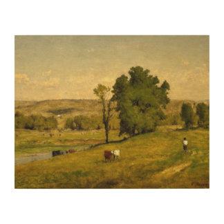 George Inness - Landschaft Holzwanddeko