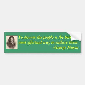 George-Maurerzitat auf Gewehr-Kontrolle Autoaufkleber