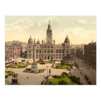 George-Quadrat, Glasgow, Schottland Postkarte