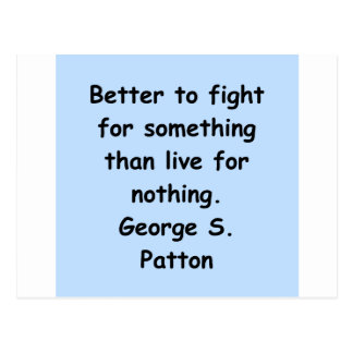 George s patton Zitat Postkarte