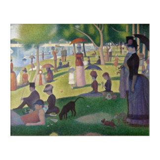 GEORGE SEURAT - 1884 Sonntag Nachmittag Acryl Wandkunst