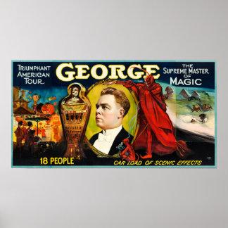 George --Triumphierendes amerikanisches Poster